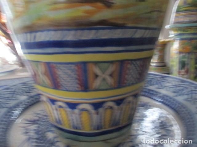 Antigüedades: Jarron ceramica de Triana siglo XIX - Foto 5 - 177328310