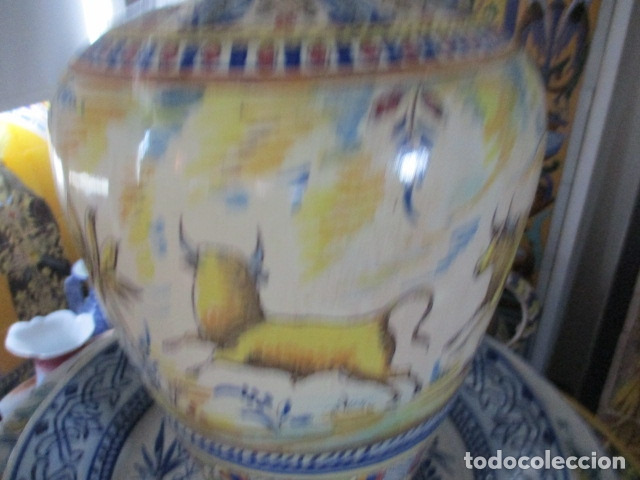 Antigüedades: Jarron ceramica de Triana siglo XIX - Foto 6 - 177328310