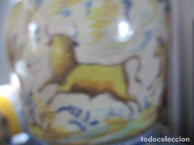 Antigüedades: Jarron ceramica de Triana siglo XIX - Foto 7 - 177328310