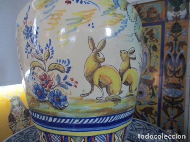 Antigüedades: Jarron ceramica de Triana siglo XIX - Foto 13 - 177328310
