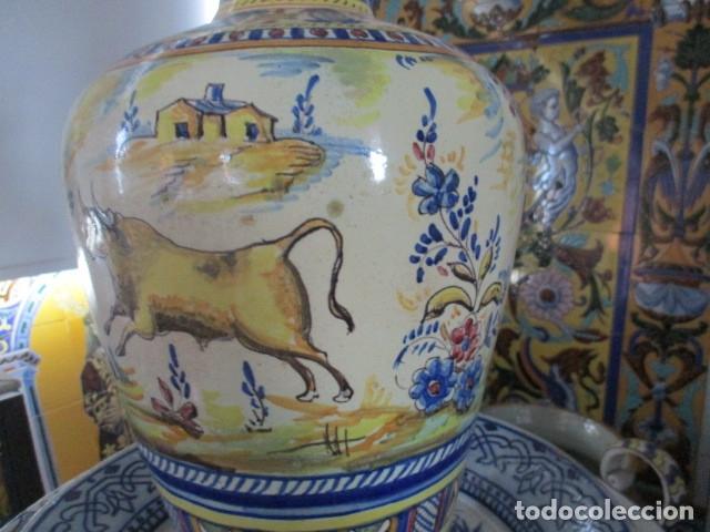 Antigüedades: Jarron ceramica de Triana siglo XIX - Foto 14 - 177328310