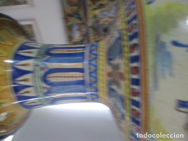 Antigüedades: Jarron ceramica de Triana siglo XIX - Foto 15 - 177328310