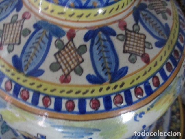 Antigüedades: Jarron ceramica de Triana siglo XIX - Foto 17 - 177328310