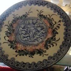Antigüedades: PLATO EN BAJO RELIEVE CON ESCENAS DE ANGELES. Lote 177367169