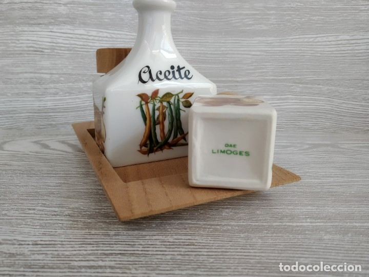 Antigüedades: Juego de mesa, aceite sal y pimienta . Francia, Limoges. Antigüedades - Foto 2 - 177382214
