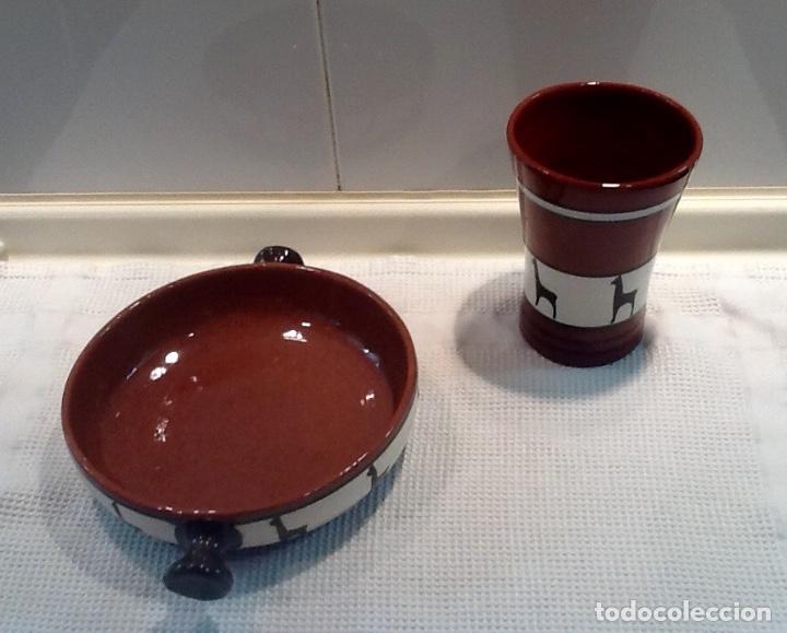 Antigüedades: Cáliz y Patena cerámica vitrificada Andina. Años '70. Impecable. - Foto 3 - 177383585