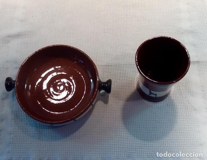 Antigüedades: Cáliz y Patena cerámica vitrificada Andina. Años '70. Impecable. - Foto 4 - 177383585