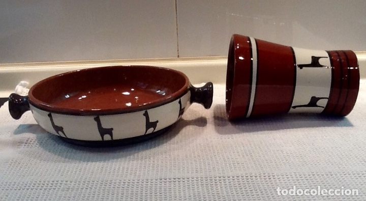 Antigüedades: Cáliz y Patena cerámica vitrificada Andina. Años '70. Impecable. - Foto 5 - 177383585