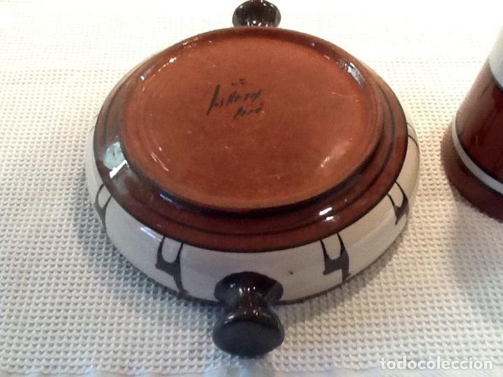Antigüedades: Cáliz y Patena cerámica vitrificada Andina. Años '70. Impecable. - Foto 8 - 177383585