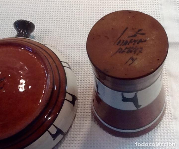Antigüedades: Cáliz y Patena cerámica vitrificada Andina. Años '70. Impecable. - Foto 9 - 177383585