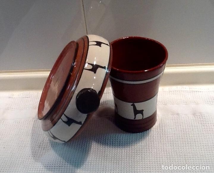 Antigüedades: Cáliz y Patena cerámica vitrificada Andina. Años '70. Impecable. - Foto 10 - 177383585