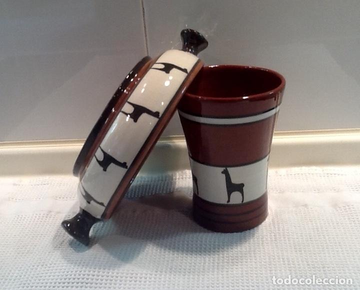 Antigüedades: Cáliz y Patena cerámica vitrificada Andina. Años '70. Impecable. - Foto 11 - 177383585