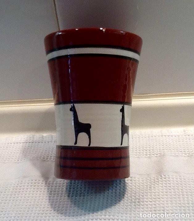 Antigüedades: Cáliz y Patena cerámica vitrificada Andina. Años '70. Impecable. - Foto 12 - 177383585