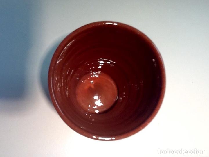 Antigüedades: Cáliz y Patena cerámica vitrificada Andina. Años '70. Impecable. - Foto 13 - 177383585