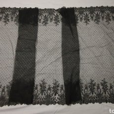 Antigüedades: EXQUISITO SHALL-MANTILLA ANTIGUO DE CAMBRAY CON DIBUJO CHANTILLY. Lote 177386002