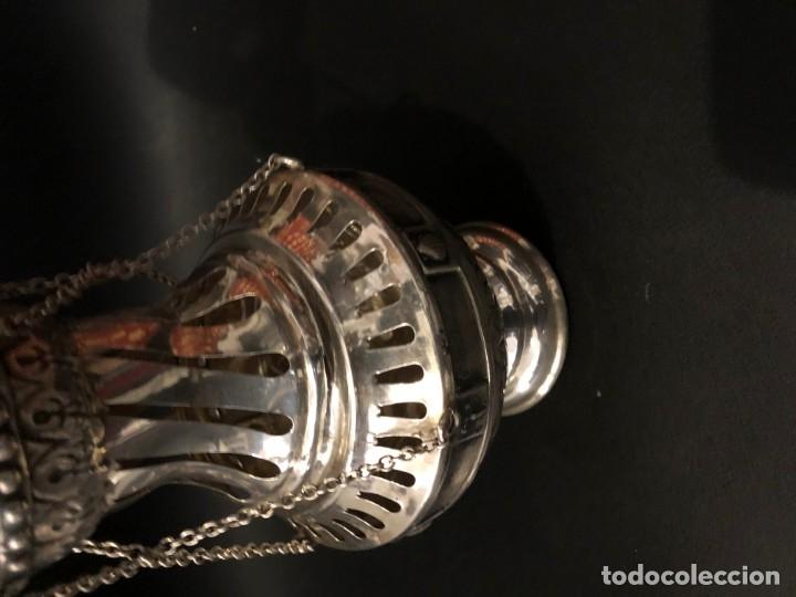 Antigüedades: GRAN INCENSARIO ALPACA PLATEADA - Foto 3 - 177408544