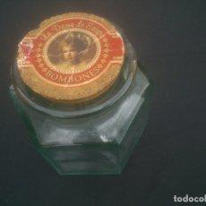 Antigüedades: ANTIGUO TARRO DE CRISTAL GRUESO BOMBONES LA DAMA DE ESTEPA.AÑOS 60S.. Lote 177411132