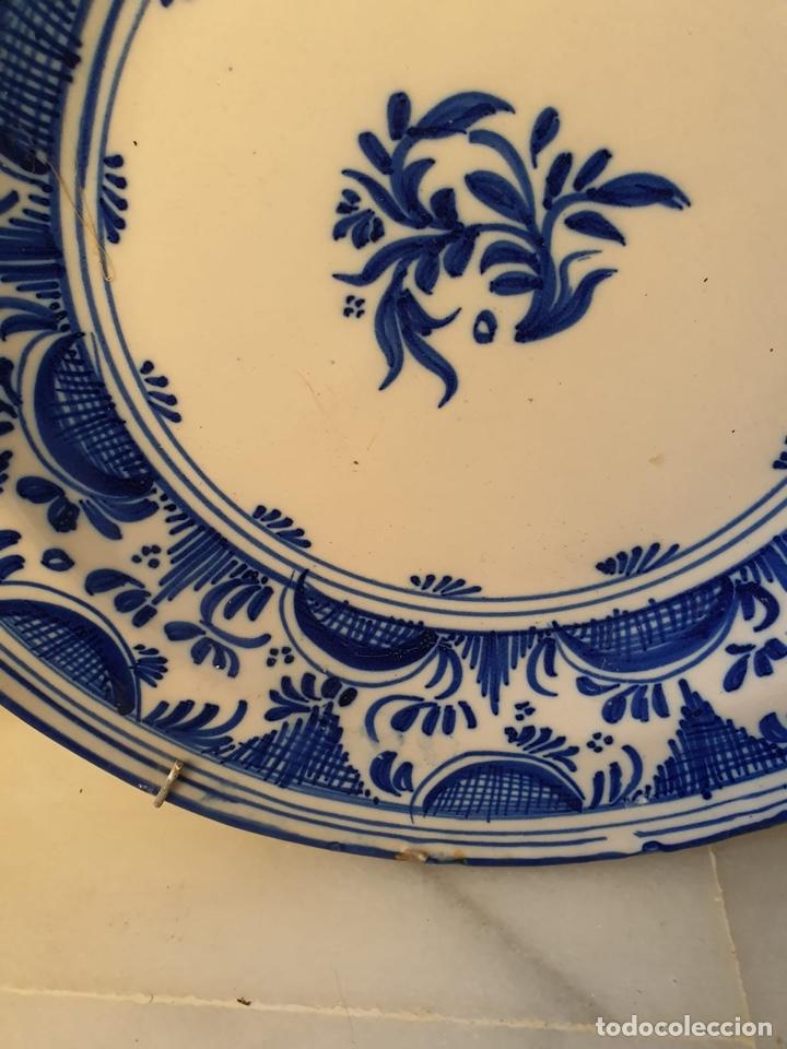 Antigüedades: Precioso plato Talavera? Siglo XIX - Foto 2 - 177426080
