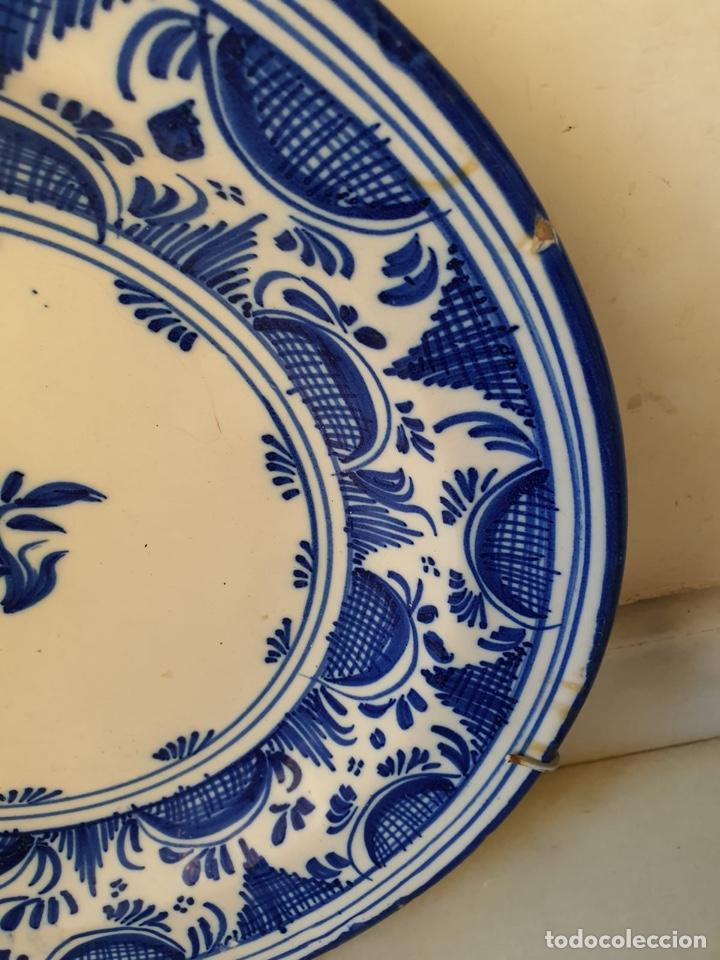 Antigüedades: Precioso plato Talavera? Siglo XIX - Foto 3 - 177426080