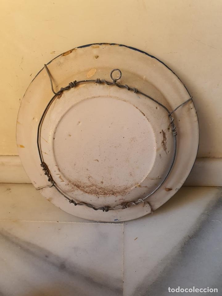 Antigüedades: Precioso plato Talavera? Siglo XIX - Foto 8 - 177426080