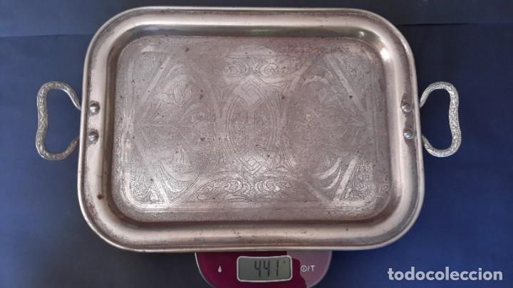 Antigüedades: Bandeja antigua de acero grabada con arabescos - Foto 6 - 177429377