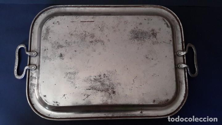 Antigüedades: Bandeja antigua de acero grabada con arabescos - Foto 8 - 177429377