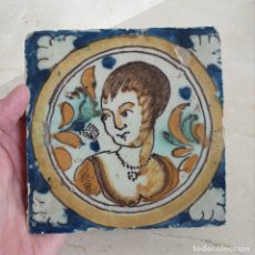 Antigüedades: PRECIOSO AZULEJO DE COLECCION EN CERAMICA DE TRIANA,(SEVILLA),S.XVIII. Lote 177484907