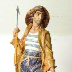 Antiquités: EL ARPONERO. PORCELANA. LLADRÓ. SALVADOR FURIÓ. ESPAÑA. CIRCA 1980. Lote 177489327