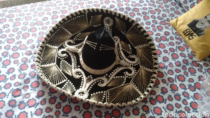 Antigüedades: SOMBRERO DE CHARRO MEXICANO ORIGINAL PIGALLE - Foto 2 - 177491068