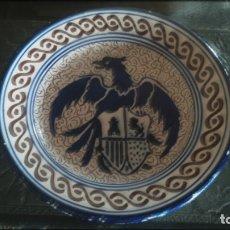 Antigüedades: ANTIGUO PLATO DE TALAVERA PINTADO A MANO . Lote 177496789