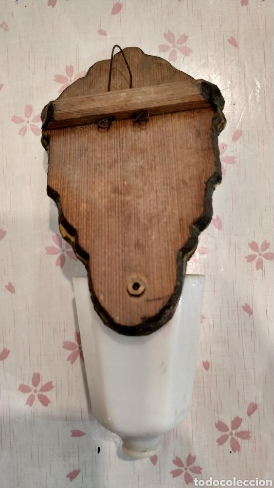 Antigüedades: Benditera antigua La Granja, pila benditera española siglo XVIII. Cristal antiguo. - Foto 2 - 177500572