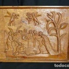 Antigüedades: TALLA MADERA S. LUIS DE FRANCIA,ADORANDO A VIRGEN NIÑO.,ARTE POPULAR,PALENCIA,AÑOS 1960.COELLO. Lote 177181505