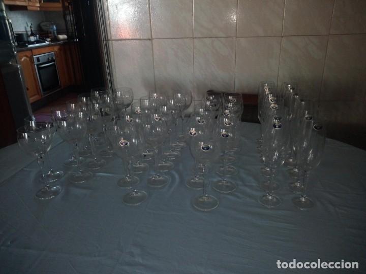 Antigüedades: copas, cristalería bohemia república checa 45 piezas - Foto 2 - 177516387
