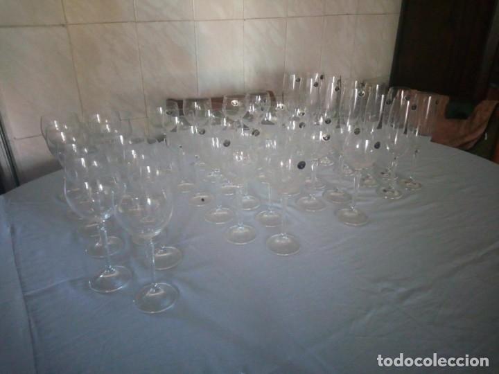 Antigüedades: copas, cristalería bohemia república checa 45 piezas - Foto 3 - 177516387