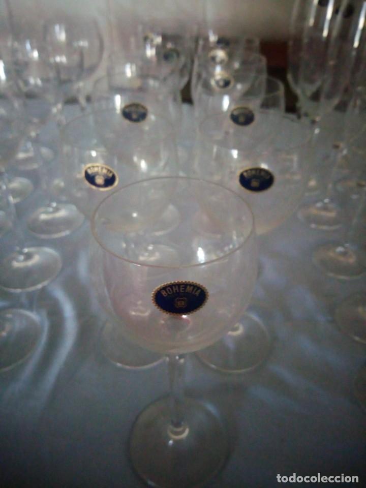 Antigüedades: copas, cristalería bohemia república checa 45 piezas - Foto 11 - 177516387