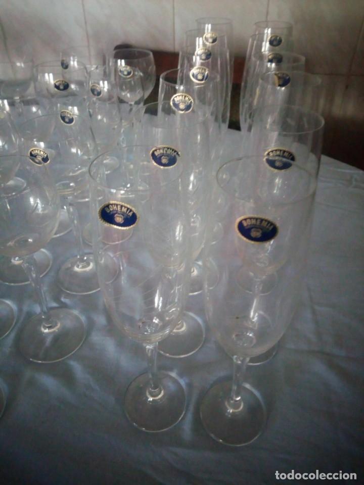 Antigüedades: copas, cristalería bohemia república checa 45 piezas - Foto 12 - 177516387