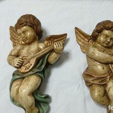 Antigüedades: PAREJA DE ÁNGELES. Lote 177529753