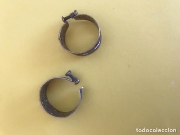 Antigüedades: Antiguos pendientes damasquinados toledo romanos aro tipo anillo bronce ver - Foto 18 - 177546385