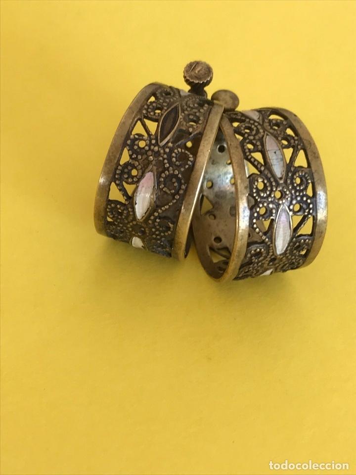 Antigüedades: Antiguos pendientes damasquinados toledo romanos aro tipo anillo bronce ver - Foto 32 - 177546385