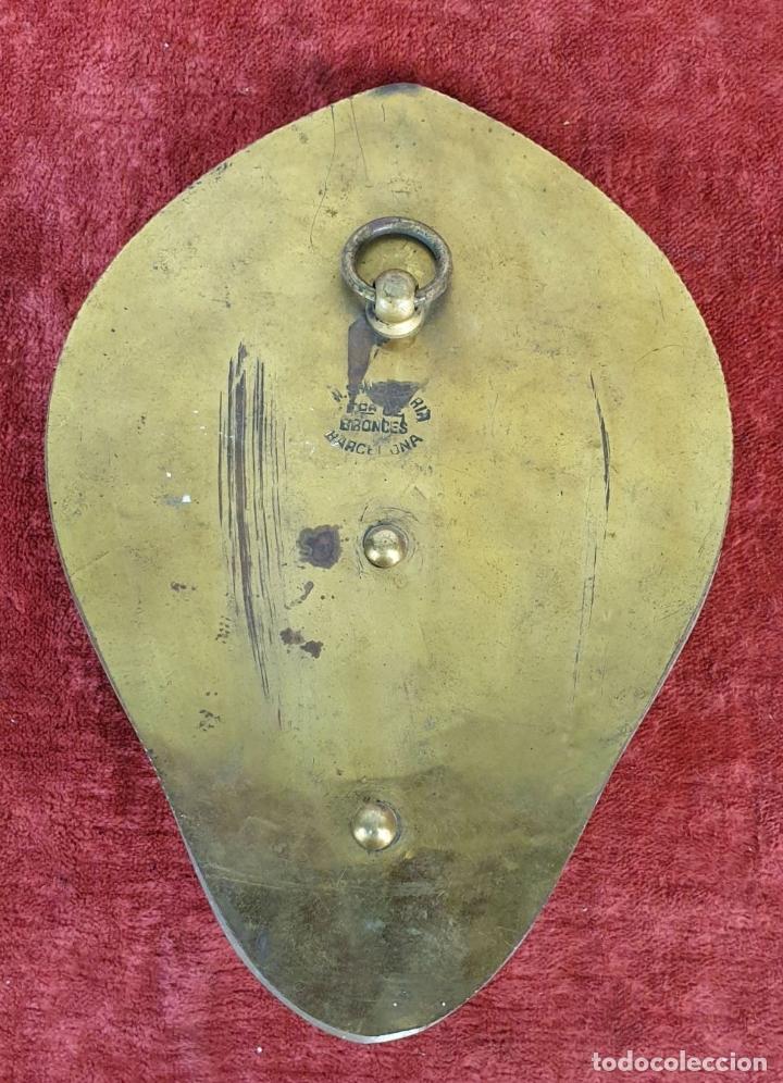 Antigüedades: BENDITERA DE BRONCE DORADO Y MÁRMOL. A. SANTAMARÍA. BARCELONA. SIGLO XX. - Foto 6 - 177548579