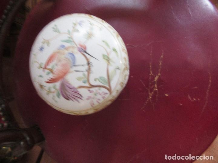 Antigüedades: TARRO DE PORCELANA ANTIGUA, PINTADA A MANO - Foto 6 - 177564832