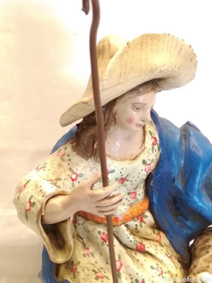 Antigüedades: Pastorcilla de terracota (nuevo) con fanal - Foto 8 - 177564992