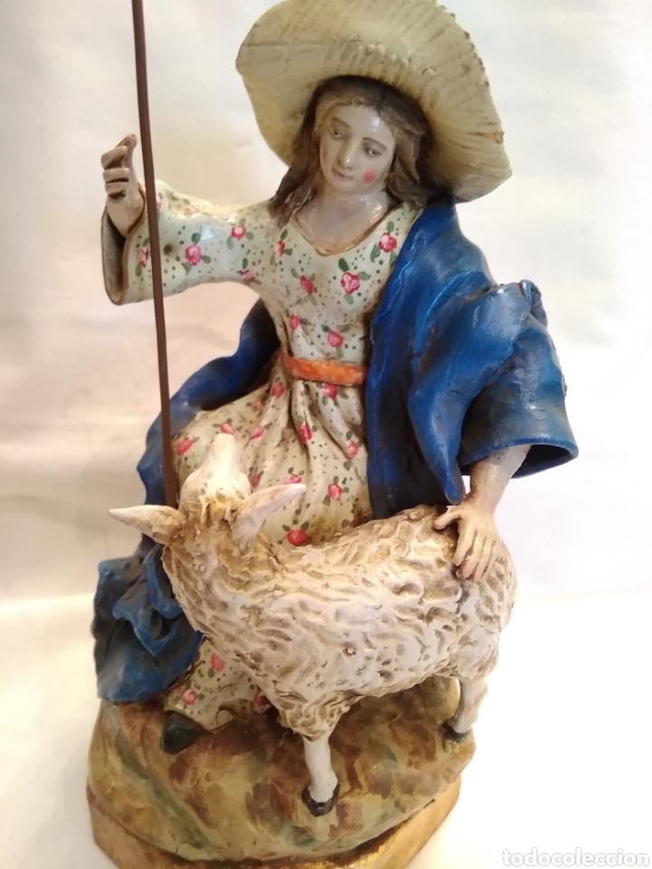 Antigüedades: Pastorcilla de terracota (nuevo) con fanal - Foto 9 - 177564992