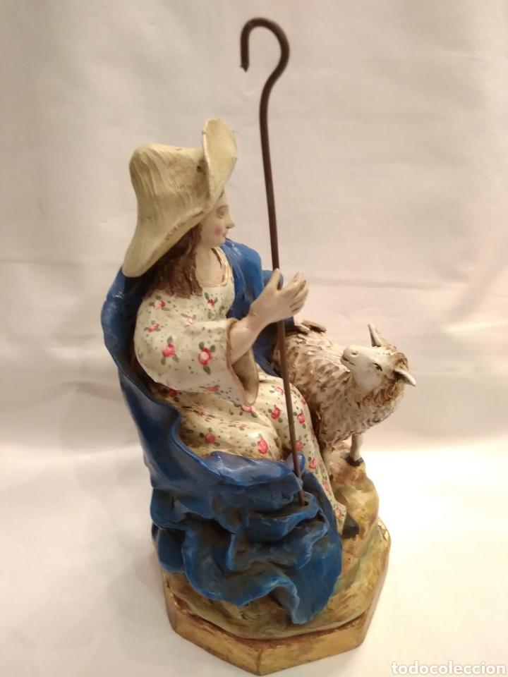 Antigüedades: Pastorcilla de terracota (nuevo) con fanal - Foto 10 - 177564992