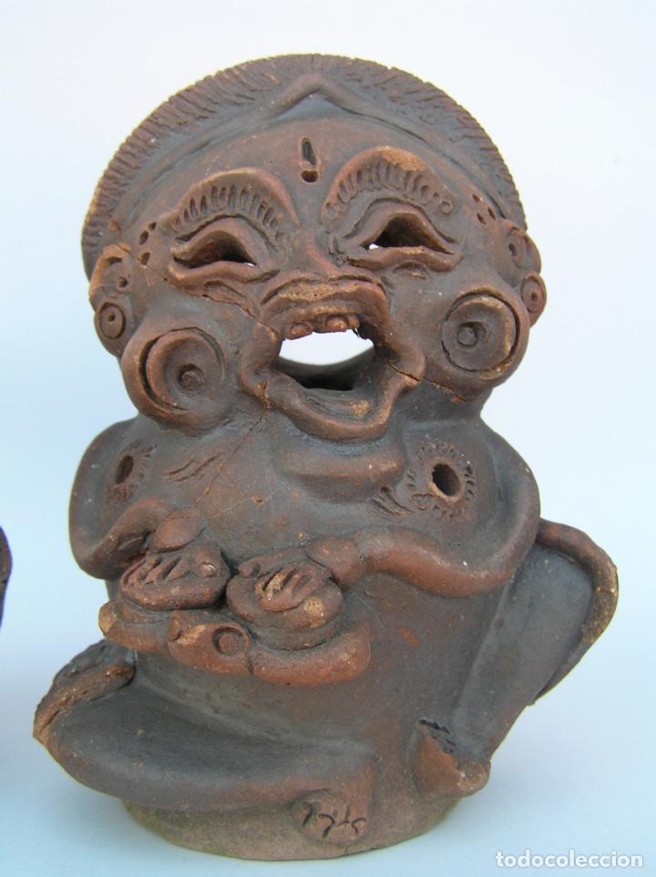 Antigüedades: FIGURAS DE TERRACOTA ANTIGUAS . BALI. - Foto 7 - 177569464