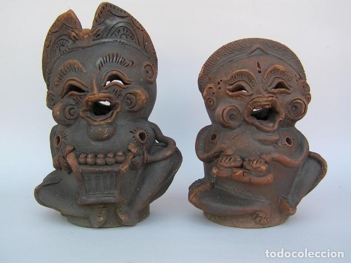 Antigüedades: FIGURAS DE TERRACOTA ANTIGUAS . BALI. - Foto 12 - 177569464