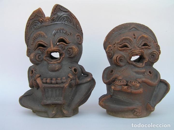 FIGURAS DE TERRACOTA ANTIGUAS . BALI. (Antigüedades - Hogar y Decoración - Figuras Antiguas)