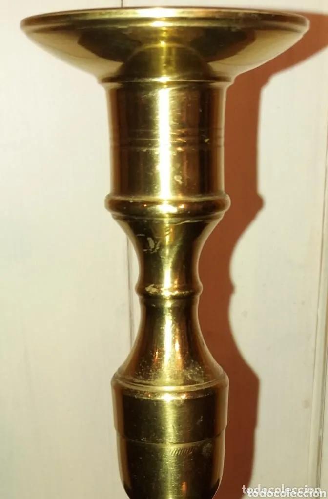 Antigüedades: 2 Candelabros pareja año 1920, bronce - Foto 5 - 177588054