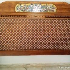 Antigüedades: CABECERO DE MADERA MACIZA RONDEÑO. Lote 177588878