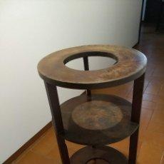 Antigüedades: PEDESTAL MACETERO DE MADERA. PRINCIPIOS S.XX. Lote 177589884